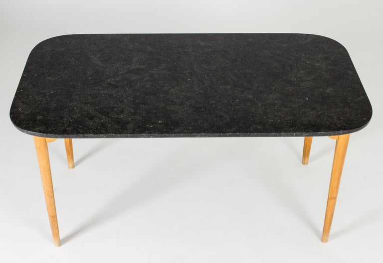 Swedish Marble Coffee or Playing Table by Axel Larsson For Sale