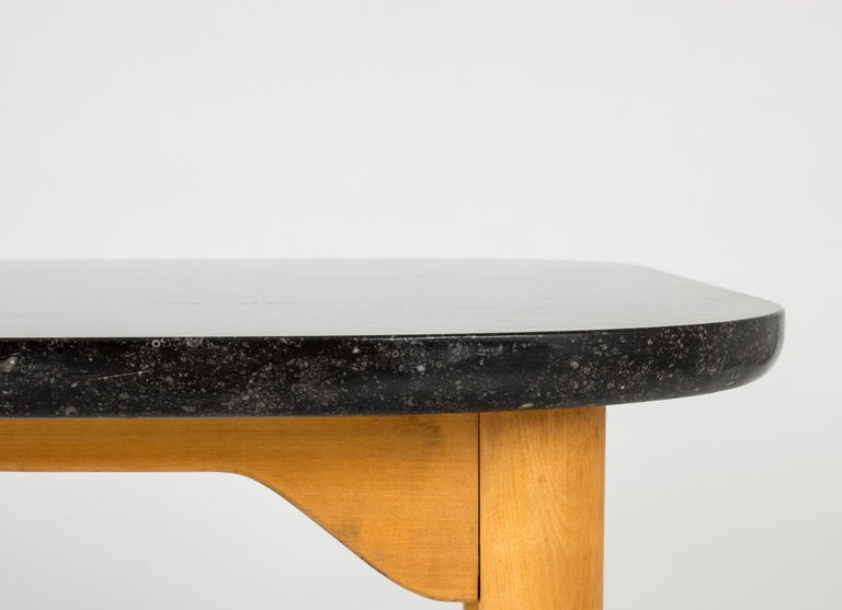 Marble Coffee or Playing Table by Axel Larsson In Excellent Condition For Sale In Stockholm, SE