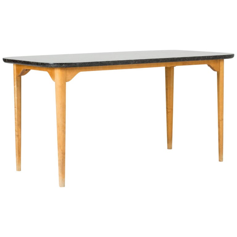Marble Coffee or Playing Table by Axel Larsson For Sale