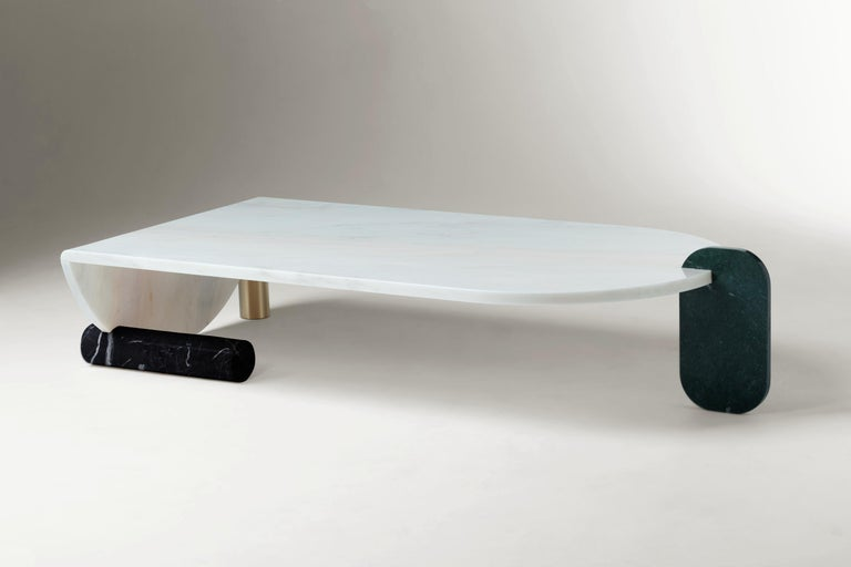 Modern Marble Coffee Table by Dooq For Sale