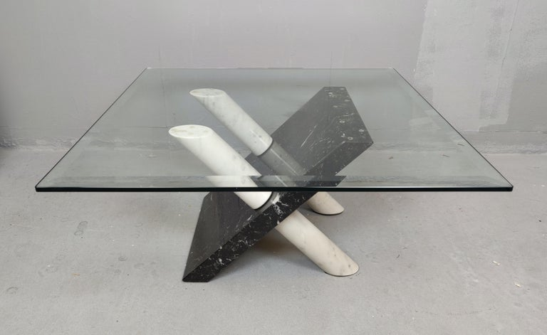 European Marble Coffee Table by Maurizio Cattelan, Italy, 1980s For Sale