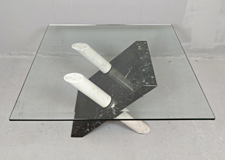 Marble Coffee Table by Maurizio Cattelan, Italy, 1980s In Good Condition For Sale In Brussels, BE
