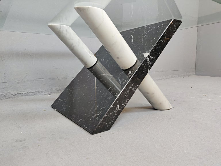 Late 20th Century Marble Coffee Table by Maurizio Cattelan, Italy, 1980s For Sale