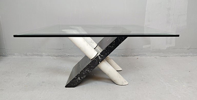 Marble Coffee Table by Maurizio Cattelan, Italy, 1980s For Sale 3