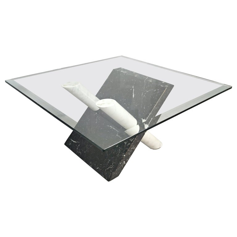 Marble Coffee Table by Maurizio Cattelan, Italy, 1980s For Sale