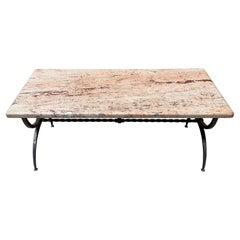 Marble Coffee Table in the Style of Jansen, 1975