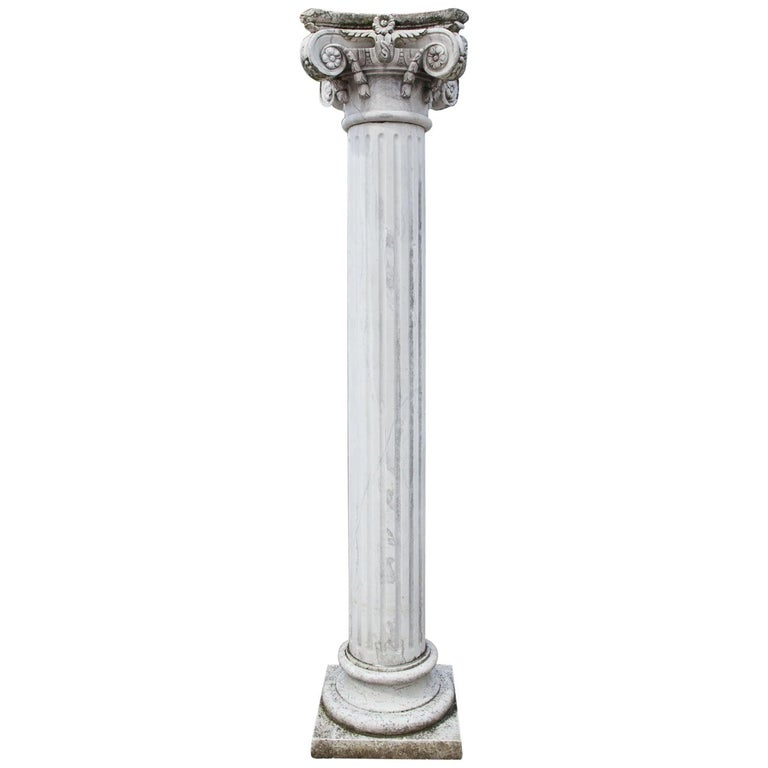 Marble Column, 20th Century For Sale
