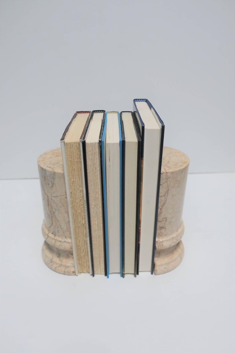 Marble Column Bookends In Good Condition For Sale In New York, NY