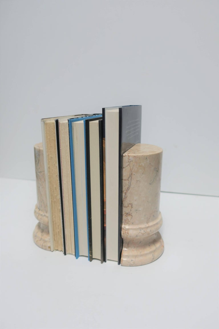 20th Century Marble Column Bookends For Sale