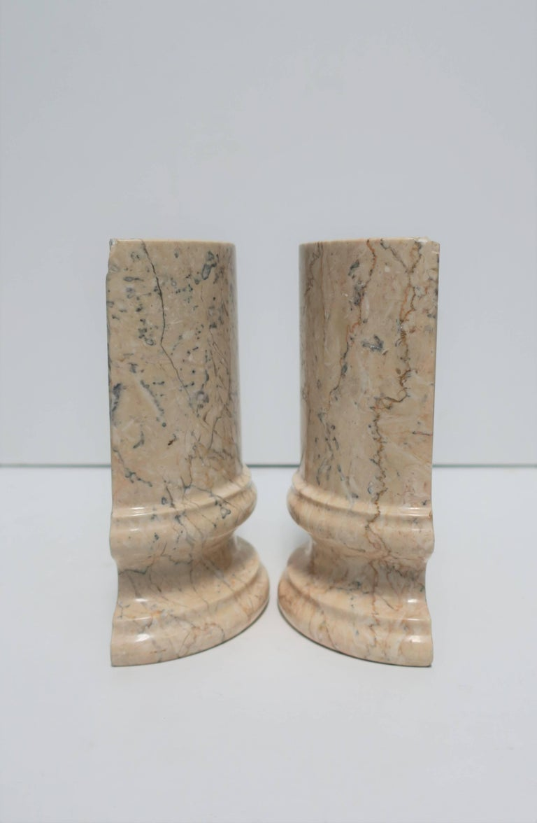 Marble Column Bookends For Sale 1