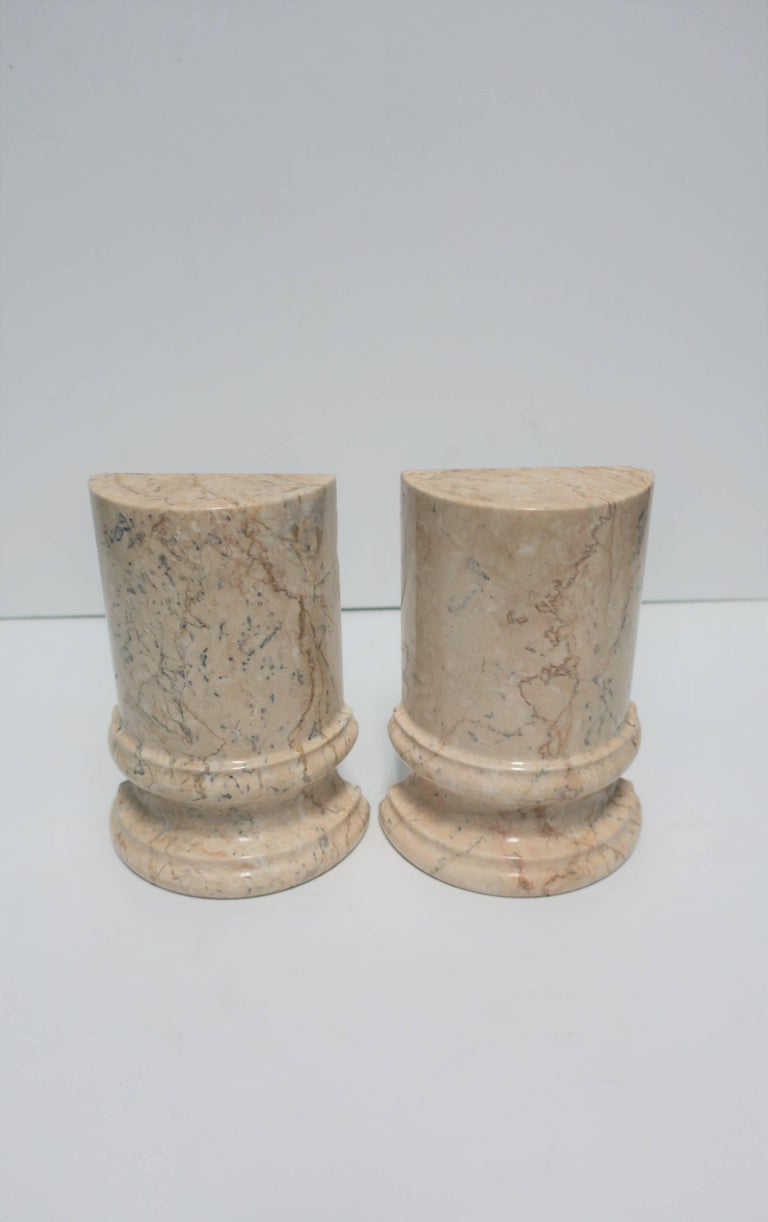 Marble Column Bookends For Sale 2