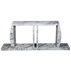Marble Console Table Made by Ettore Sottsass, circa 1980, Italy
