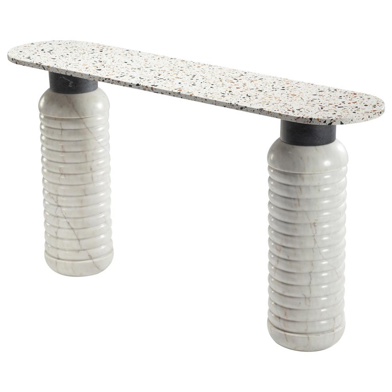 Marble Contemporary Jean Console Table For Sale