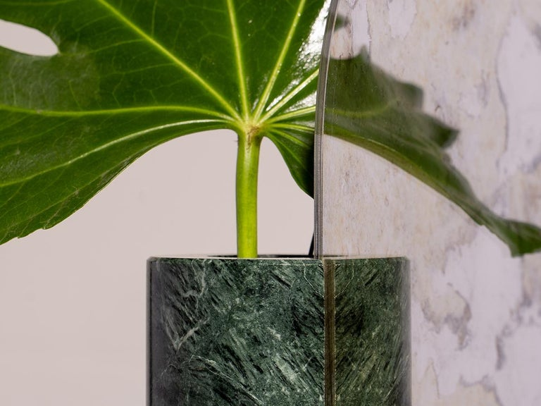 Modern Marble Countertop Mirror, Vase For Sale