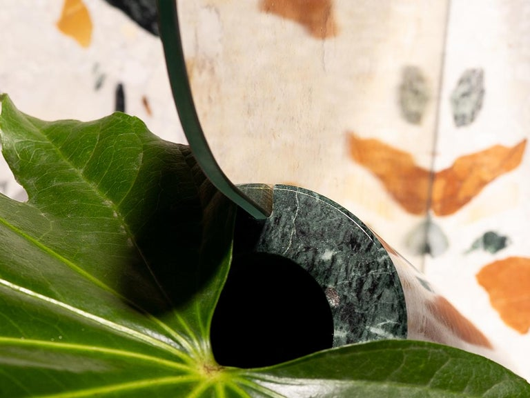 Italian Marble Countertop Mirror, Vase For Sale