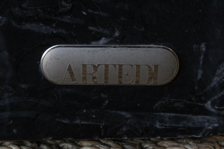 Post-Modern Marble Cubed Side Table by Artedi, Italy, 1980s For Sale