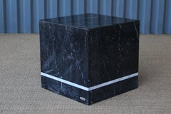 Marble Cubed Side Table by Artedi, Italy, 1980s