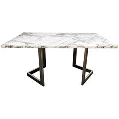 Marble Dining Table by Francoise See, 1970s