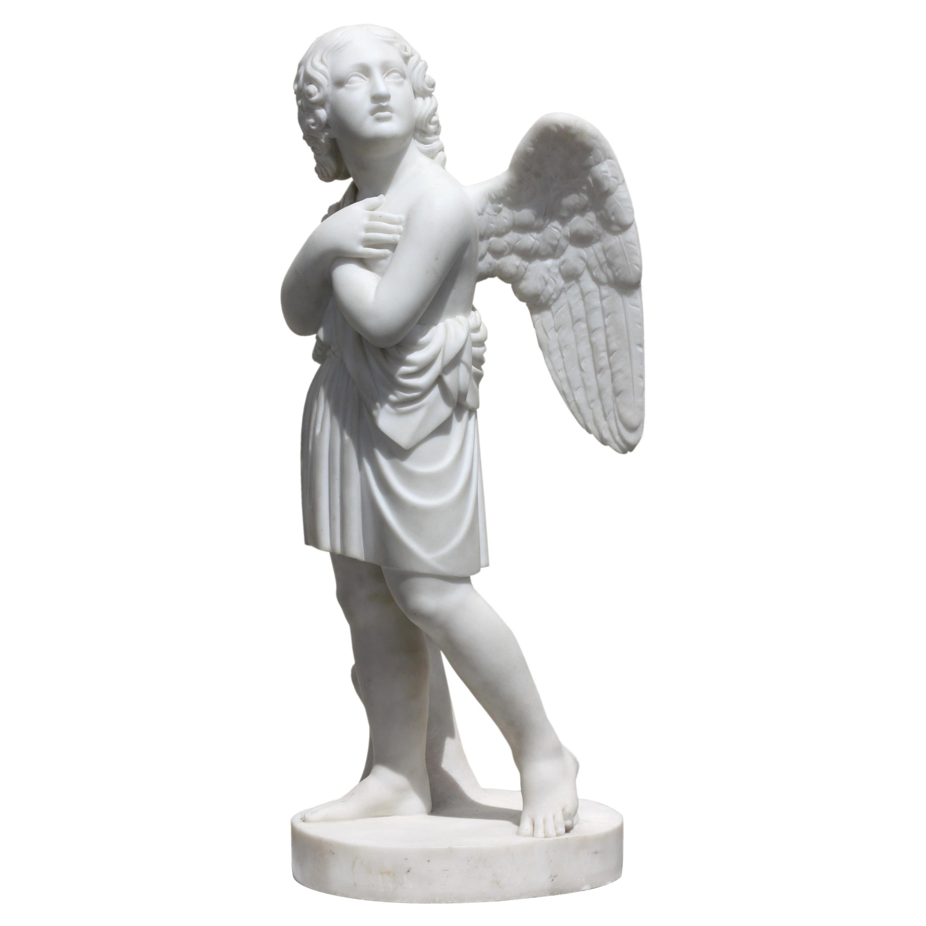 Marble Figure of an Angel after Pietro Bazzanti Florence, 19th