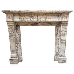 Marble Fireplace, Brècie Serravezza, Exceptional