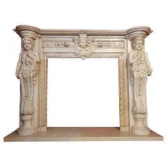 Marble Fireplace Portal in Style of Baroque