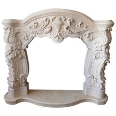 Marble Fireplace Portal in the Style of the Late Renaissance / Early Baroque