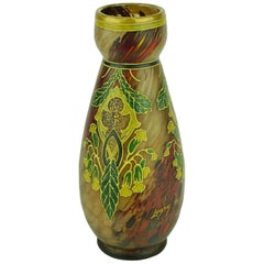 """Marble Glass Legras Vase from the """"Arab Style"""" Collection, 1890"""