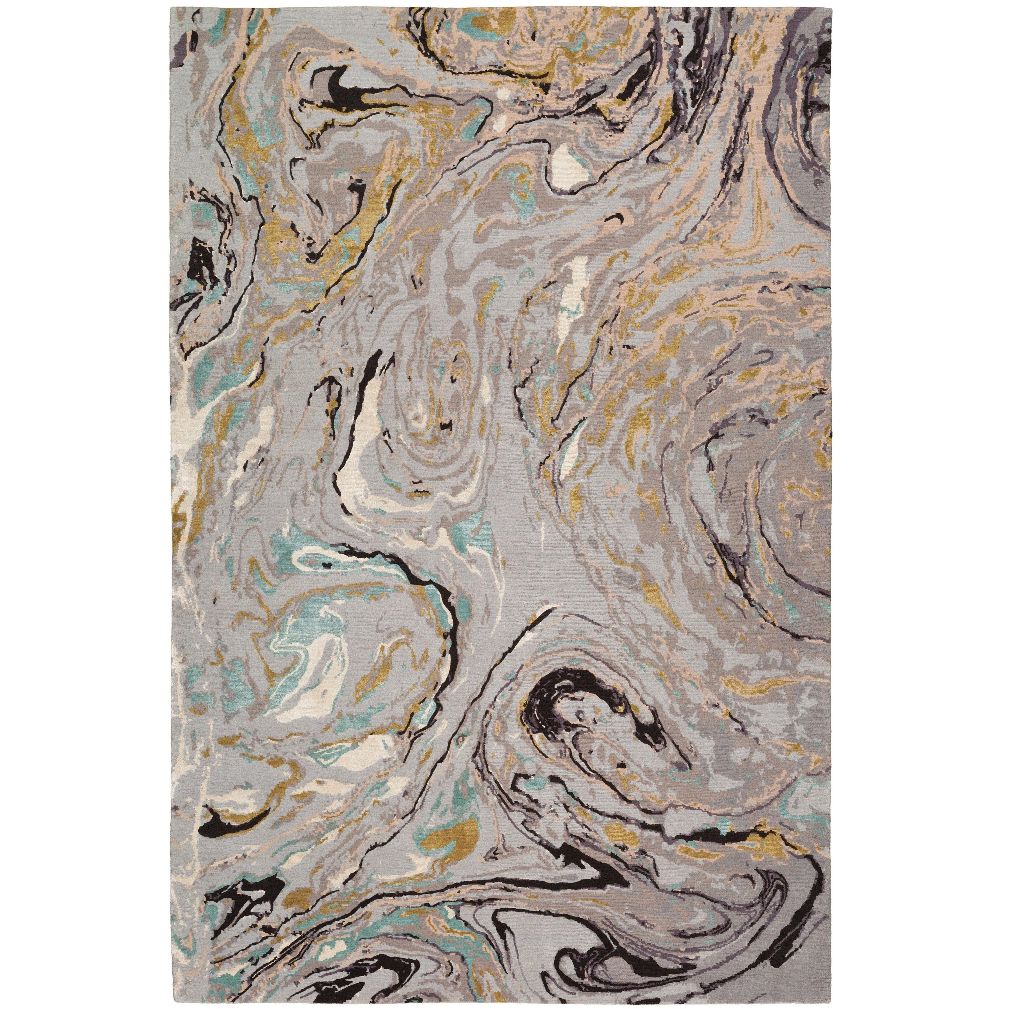 Marble Hand-Knotted 6x4 Rug in Wool and Silk by Rodarte