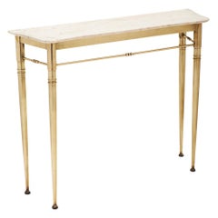 Marble Italian Console Table in the Manner of Paolo Buffa