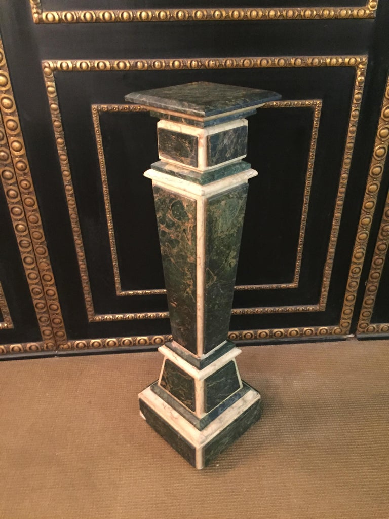 Marble Pillar Column in Louis Seize XV Style For Sale 4
