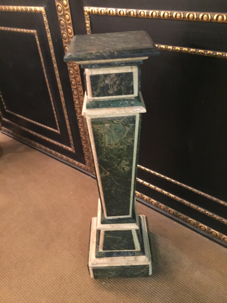 Marble Pillar Column in Louis Seize XV Style For Sale 6