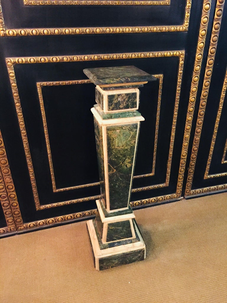 Marble Pillar Column in Louis Seize XV Style For Sale 7