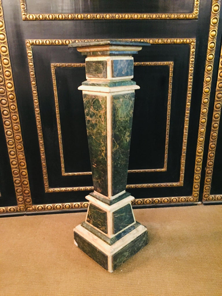 Marble Pillar Column in Louis Seize XV Style For Sale 10