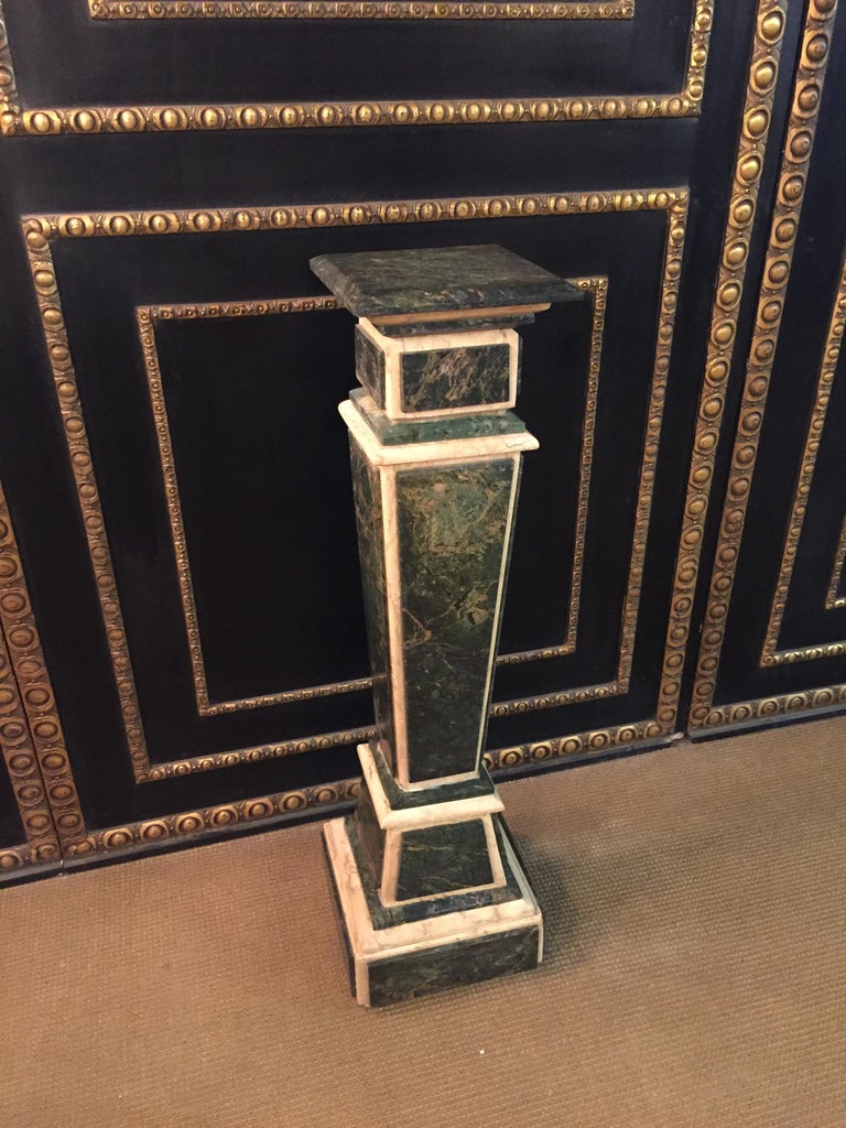 Louis XV Marble Pillar Column in Louis Seize XV Style For Sale