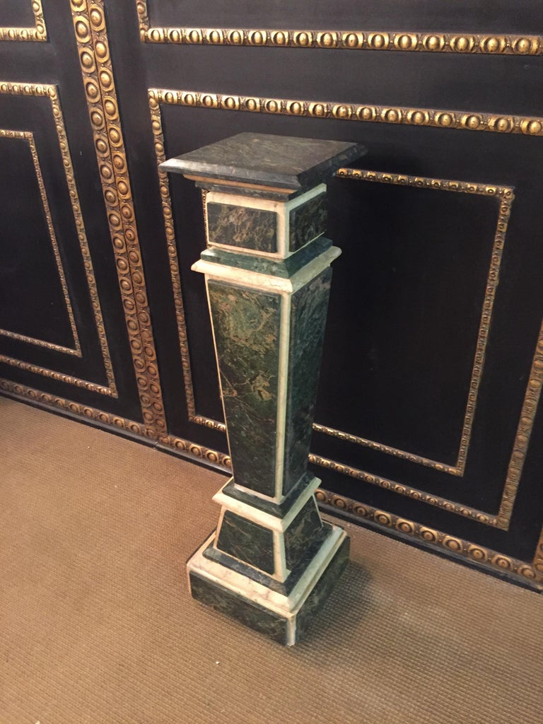 German Marble Pillar Column in Louis Seize XV Style For Sale