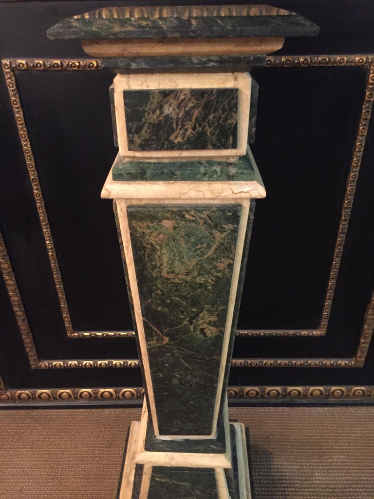 Hand-Crafted Marble Pillar Column in Louis Seize XV Style For Sale