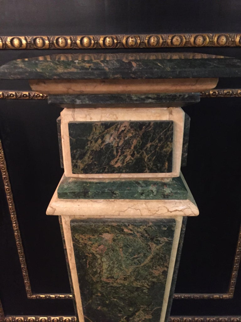 20th Century Marble Pillar Column in Louis Seize XV Style For Sale