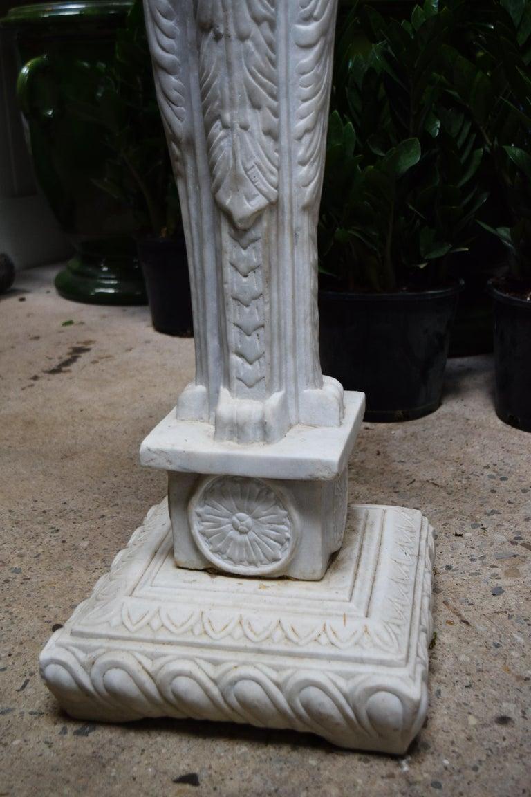 Art Nouveau Marble Plant Stand For Sale