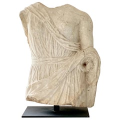 Marble Roman Antiquities Sculpture of Fortuna, 2nd Century AD, Spain