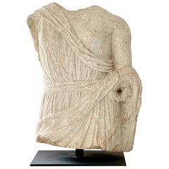 Marble Roman Antiquities Sculpture of the Goddess Fortuna, 2nd Century AD, Spain