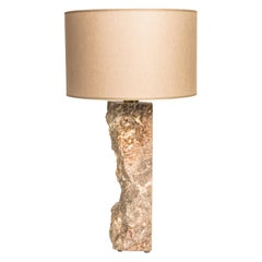 Marble Sculpted Table Lamp by Brajak Vitberg