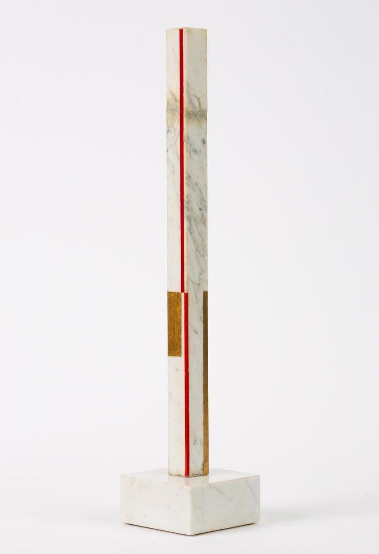 "Mid-Century Modern Marble Sculpture by Ilya Bolotowsky, ""Column #22"""