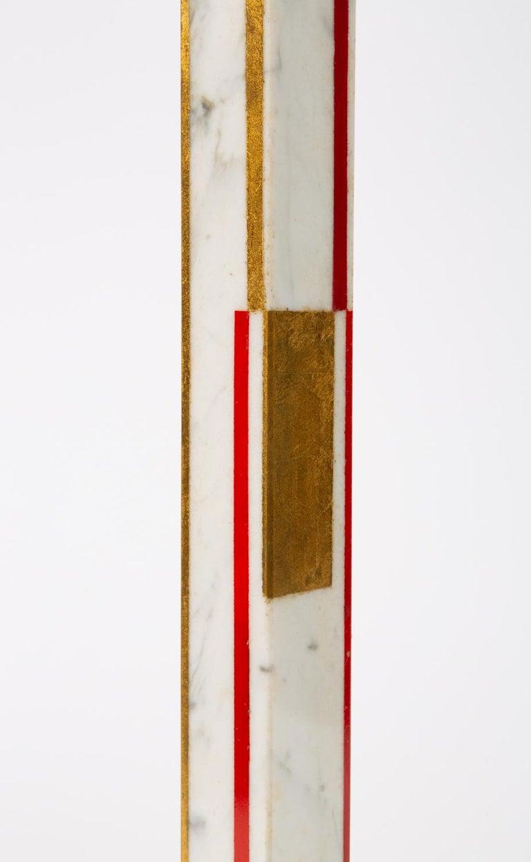 "Marble Sculpture by Ilya Bolotowsky, ""Column #22"" 2"