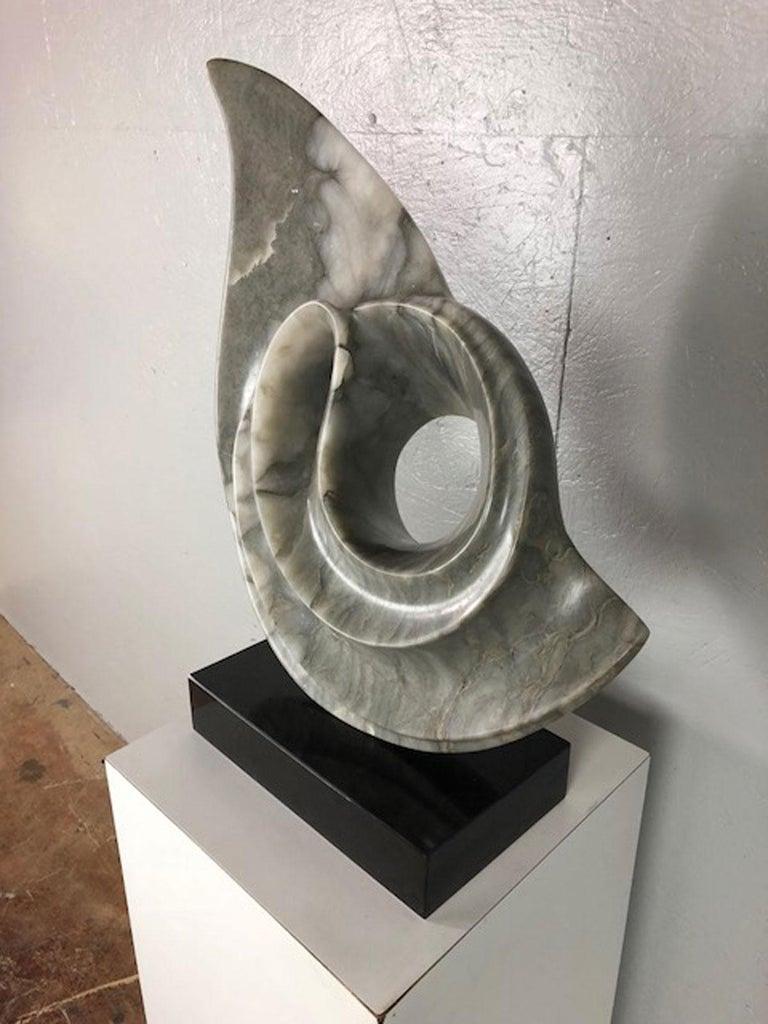 Italian Carrara marble and Arizona marble sculpture by Jennie. Signed, circa 1970s.