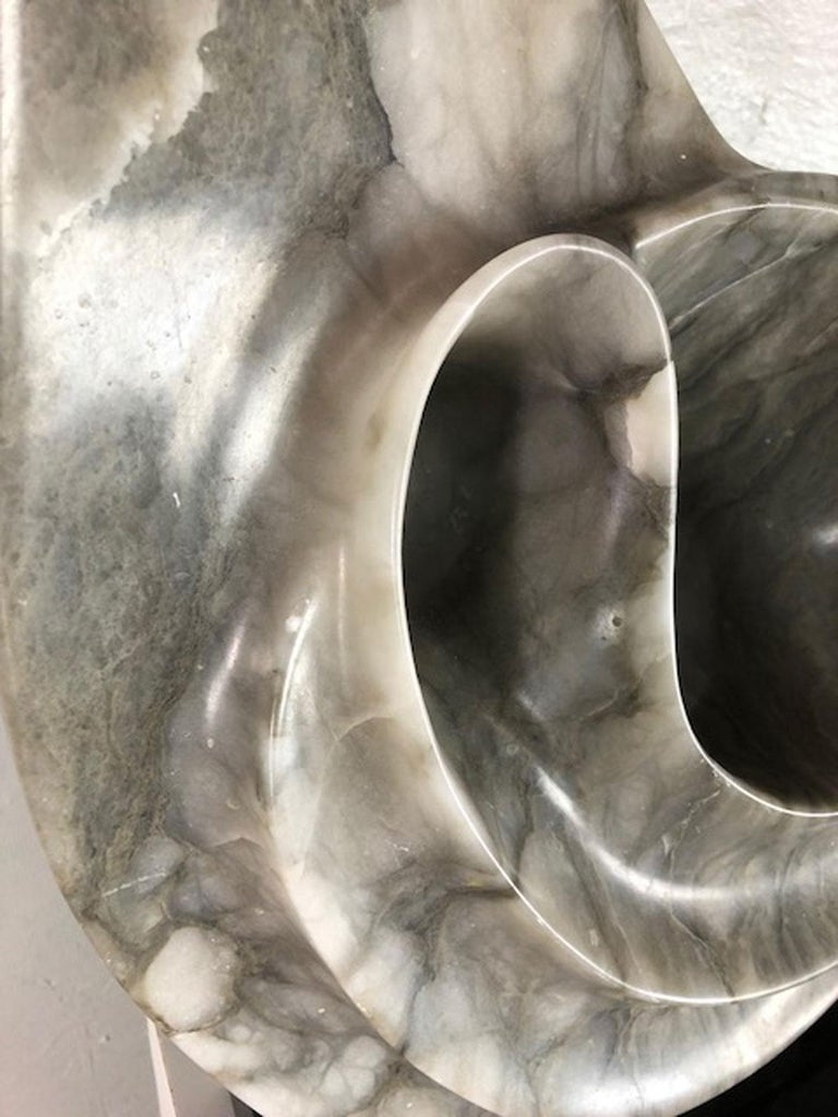Carrara Marble Marble Sculpture by Jeannie For Sale