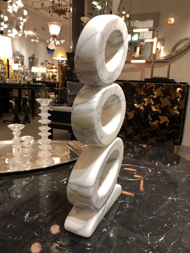 Modern Marble Sculpture by JF Bourdier, France, circa 2016 For Sale