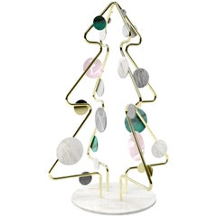 Marble Sculpture Christmas Tree Polished Brass Limited Edition
