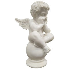 "Marble Sculpture ""Cupid on Globe"", Early 20th Century"