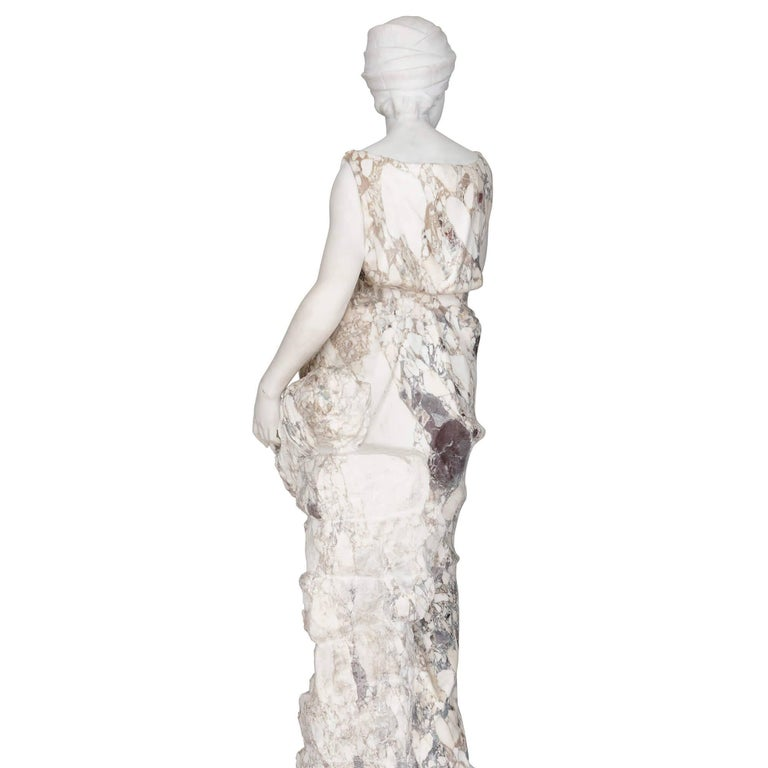 Neoclassical Marble Sculpture of a Female Figure, Emblematic of Autumn For Sale