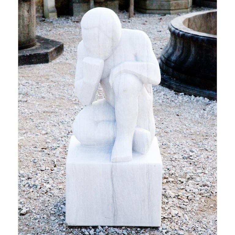 Marble Sculpture the Thinker, 21st Century For Sale 5